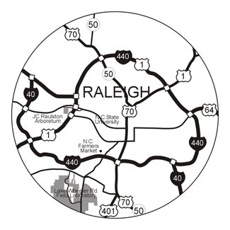 map of Raleigh area highways