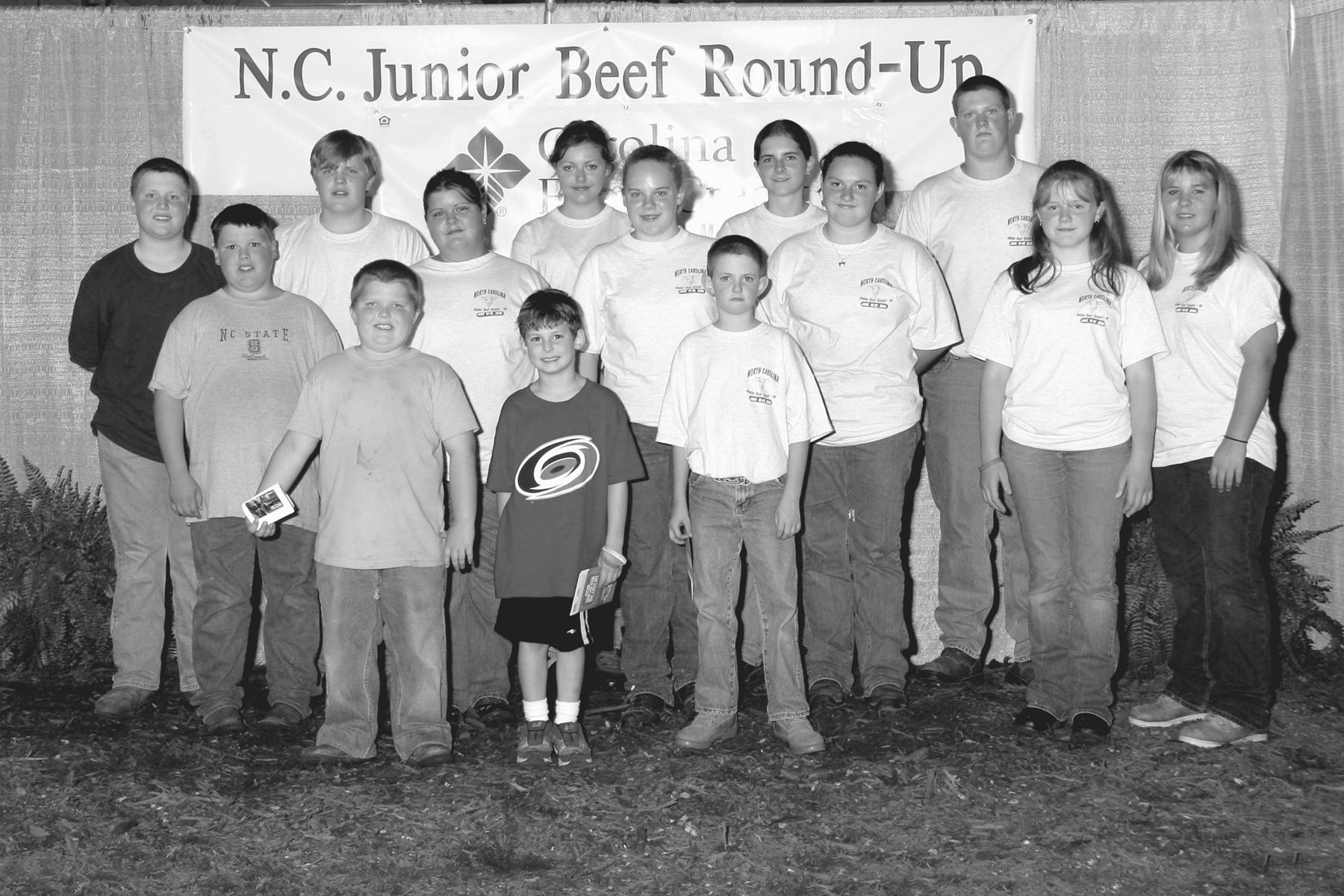 N.C. Junior Beef Round-up participants