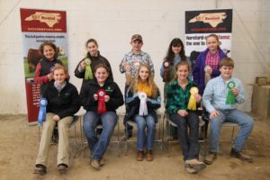 Cover photo for 2019 NC Junior Hereford Association Judging in January
