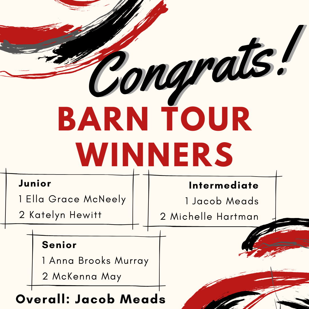 Barn Tour winners